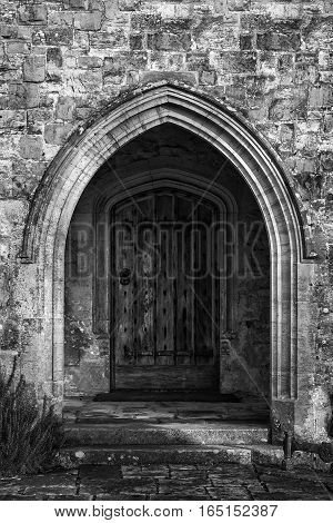 Black And White Detail Image Of Regency Period Design Window In Medieval House