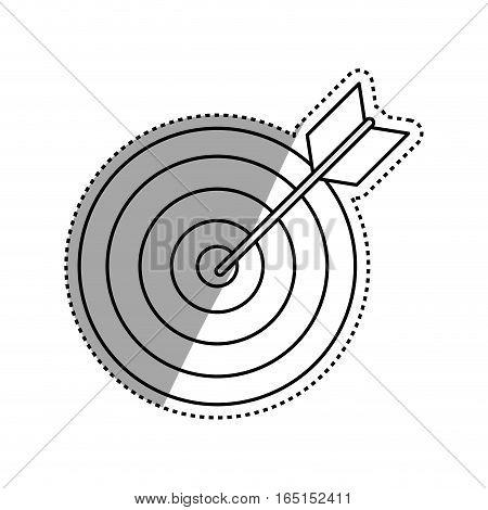 Target dartboard goal icon vector illustration graphic design