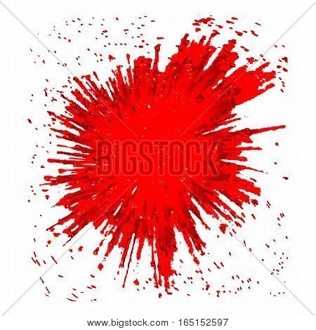Vector red BLOB. Abstract red vector spot