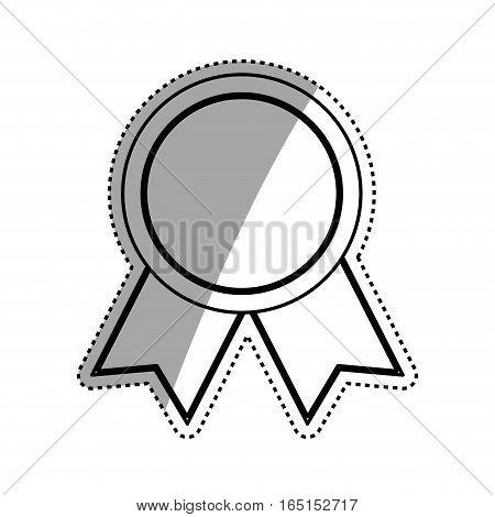 Medal award ribbon icon vector illustration graphic design