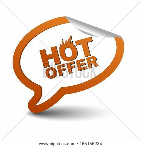 This is orange vector element bubble hot offer
