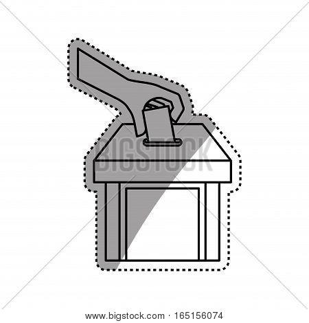 Democracy voting vote icon vector illustration graphic design
