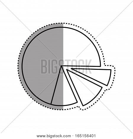 statistics pie chart icon vector illustration graphic design