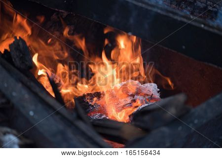 Burning Of Garbage, Boards, Burn, Fire, High Fire