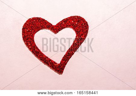 Glitter, sparkle twinkle red heart.  Romantic symbol of Love.  Valentine's Day, Wedding, Anniversary,