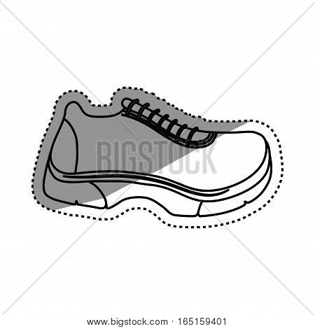 Running sport sneaker icon vector illustration graphic design