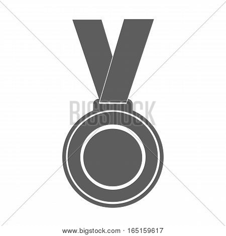 medal winner of the prize-winner on ribbon. vector illustration