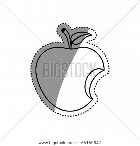 Delicious apple fruit icon vector illustration graphic design