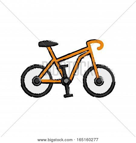 Sport race bicycle icon vector illustration graphic design