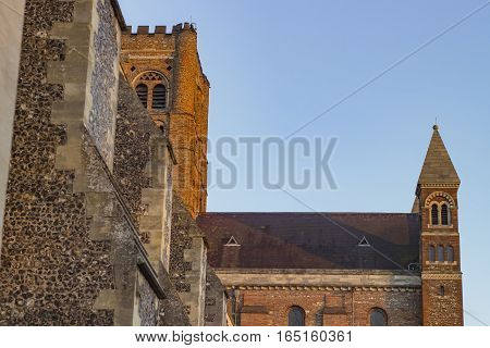 Ancient cathedral of St Albans in the United Kingdom.