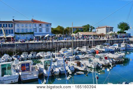 La Flotte France - september 25 2016 : the picturesque port