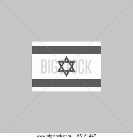 Israel flag icon vector illustration of a state symbol