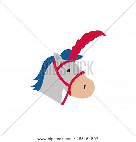 circus horse cartoon icon vector illustration graphic design