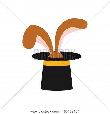 Rabbit magic trick icon vector illustration graphic design