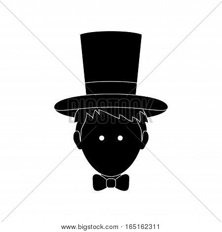 Magician with hat icon vector illustration graphic design