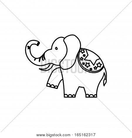 circus elephant cartoon icon vector illustration graphic design