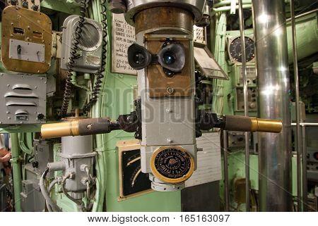 World War II US Navy submarine periscope