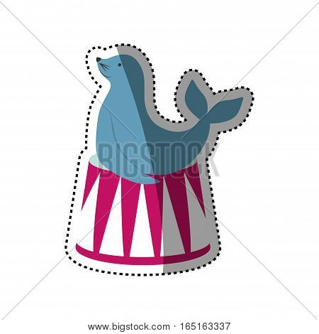 Sealion cartoon animal icon vector illustration graphic design