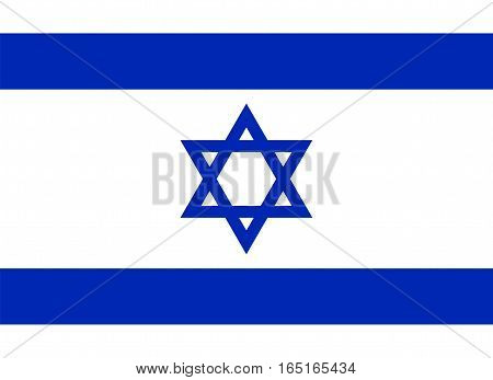 Official Israel flag vector illustration on a white background