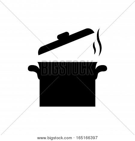 saucepan kitchen utensil icon vector illustration graphic design