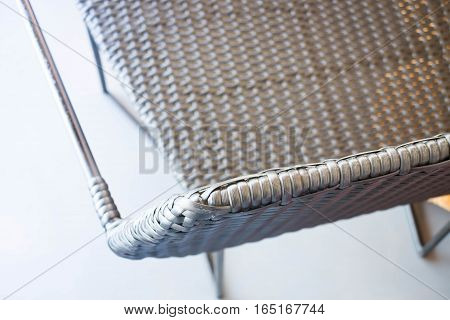 Metal chair in industrial style stock photo