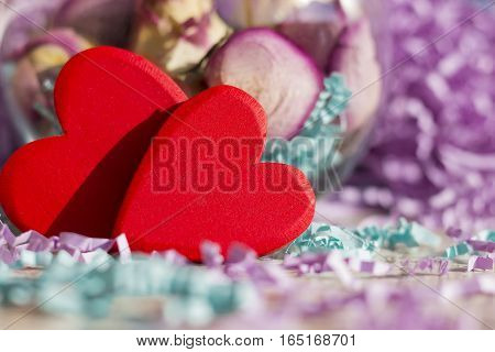 Background or greeting card for Valentine's Day.
