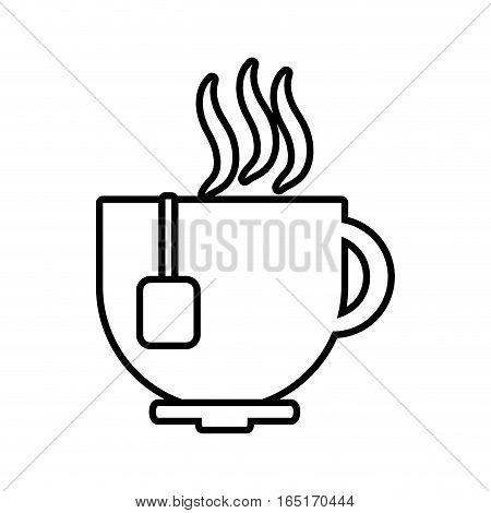 cup coffee tea chocolate hot line vector illustration eps 10