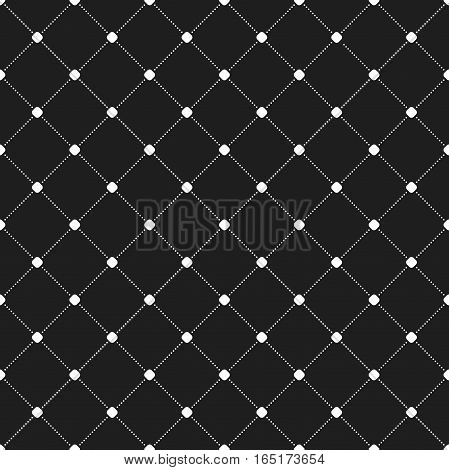 Geometric repeating pattern. Seamless abstract modern texture for wallpapers and backgrounds. Black and white pattern