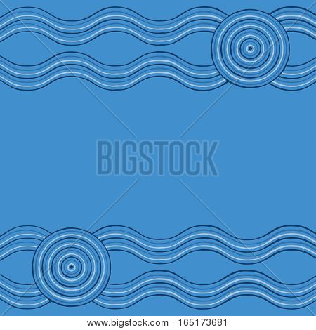 Australian Aboriginal Art Background In Vector Format.
