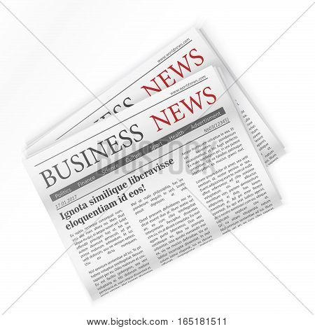Newspaper. Business news. Regional newspapers business news
