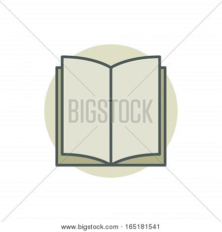 Creative colorful book vector icon or sign