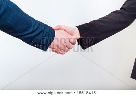 Business handshake when making a good profitable deal