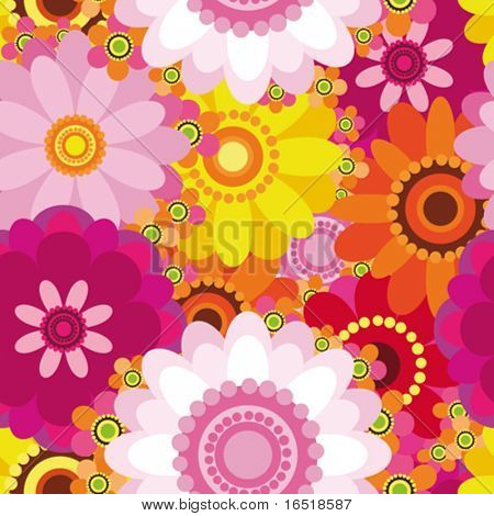 Easter seamless floral background. Vector.