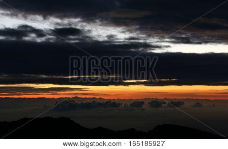 Clouds, Haleakalā, Haleakalā National Park, Hawai'i, Maui, summer, sunrise, sunshine