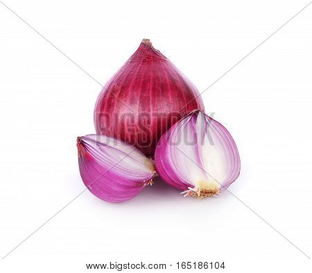shallots isolated on white background ingredient, red, food, healthy, fresh