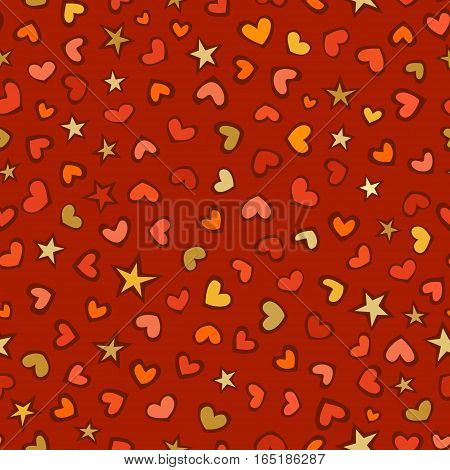 Vector Seamless Love Pattern.