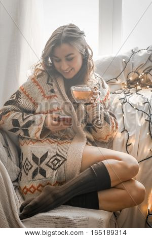 Cup Of Tea The Girl With The Phone