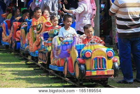 YalaTHAILAND - JANUARY 14 2017 : National Children's Day The child happy Festival Anniversary Year in southern Yala. Thailand