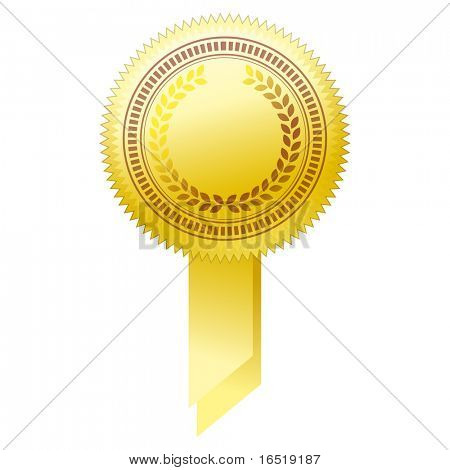 illustration of gold seal.
