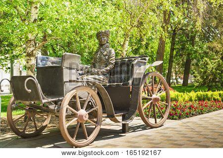 NOVOROSSIYSK RUSSIA - MAY 08.2016: Sculpture