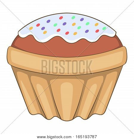 Easter cake icon. Cartoon illustration of Easter cake vector icon for web