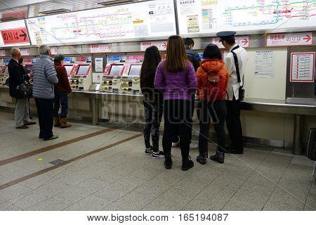 Passenger Purchase Train Ticket At Namba Station
