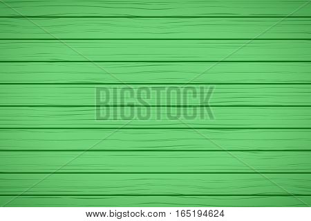 Painted Wood Background. Green color. Vector Illustration
