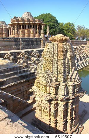 MODHERA, GUJARAT, INDIA: The Sun Temple with beautiful architecture