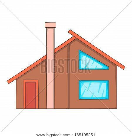 Semi house icon. Cartoon illustration of semi house vector icon for web