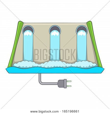 Power station icon. Cartoon illustration of power station vector icon for web