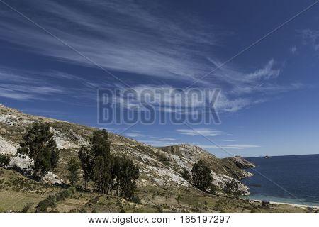Isla Del Sol. Island Of The Sun. Bolivia. Titicaca Lake. South America.