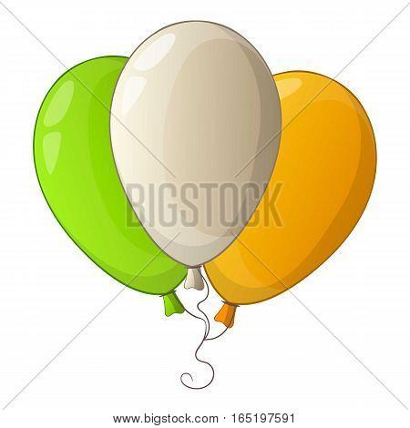 Ireland colours icon. Cartoon illustration of ireland colours vector icon for web