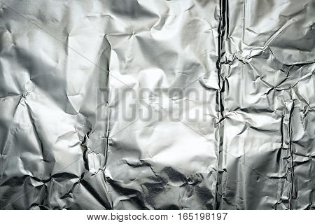 crushed tin foil as a textured background