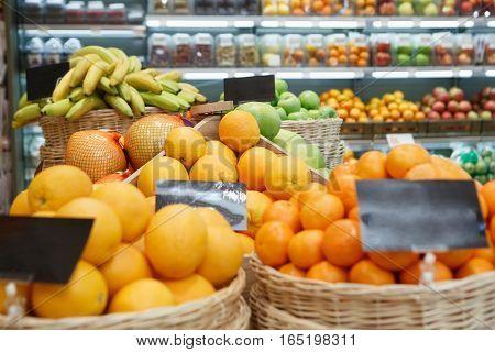 Orange Box On Sale In Food Shop